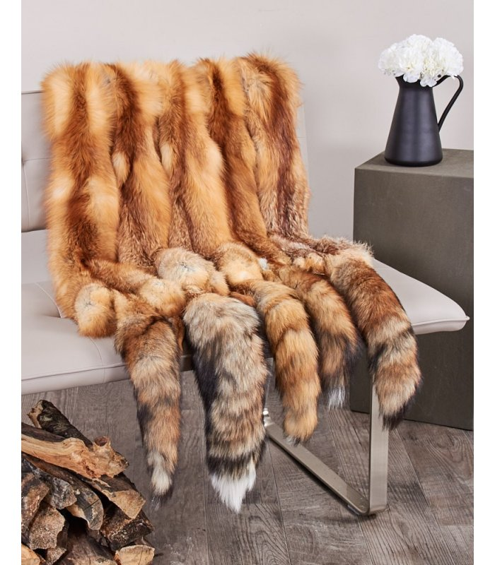 Tanned SAGA pelt skin fox SKIN FUR multicolor FOXES
