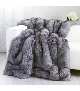 Silver Fox Fur Paws Real fur blanket luxury blanket throw blanket personalized blanket minky blanket toddler blanket