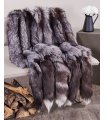 XL Silver Fox Fur Pelts / Tanned Skins