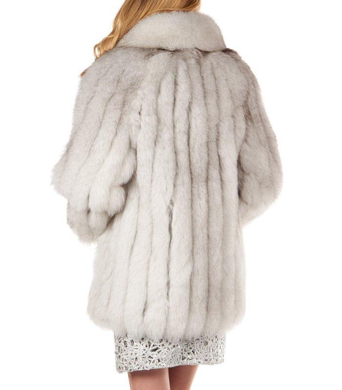 Blue Fox Fur Jacket Fursource Com, White Fox Fur Coat Cost