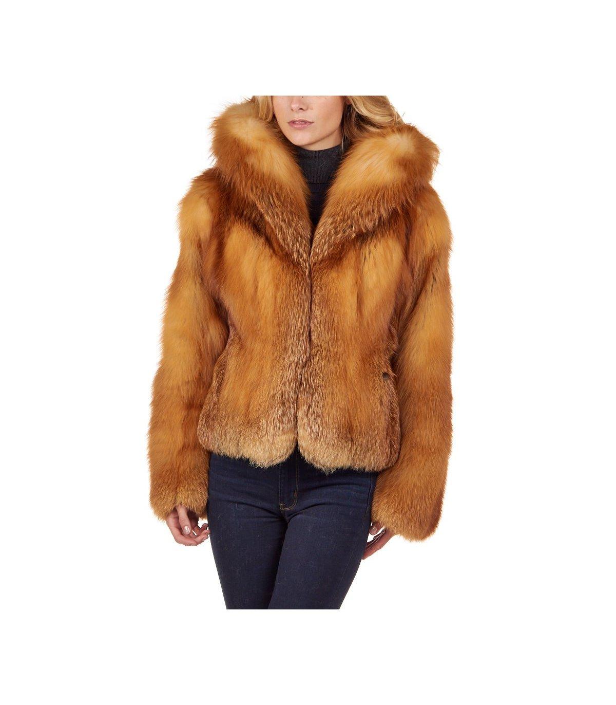 The Red Fox Fur Bolero Jacket for Women: FurSource.com