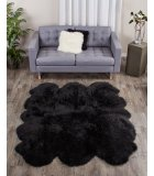 Black Fur Rugs