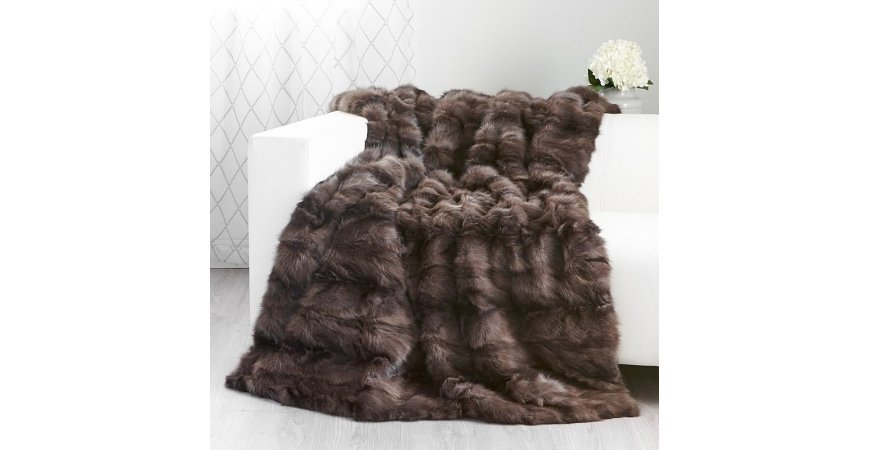 Keeping warm with fur blankets